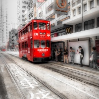 Color 1st - Red Tram by Rohit Kamboj