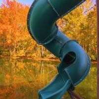 Color 3rd – Water Slide Lake Rabun by D. Stephens