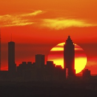 Color HM Sunset Over Midtown, Atlanta by Brandon Ward