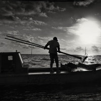 Mono HM The Oysterman at Early Light #8 by Marc McElhaney