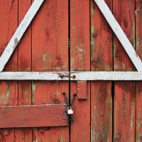 Color HM – Closed Doors - The Old Red Barn by Jim Harrison