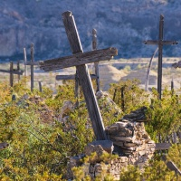 Color 1st – Wooden Crosses -Terlingua TX by Jim Harrison