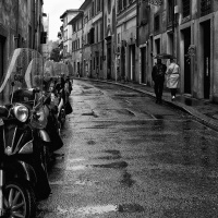 Mono 1st – Walking Florence in the Rain by Darryl Neill