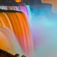 Color 3rd – American Falls Illumination by Rohit Kamboj