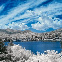 Color - Lake Janaluska IR Color by Don Stephens