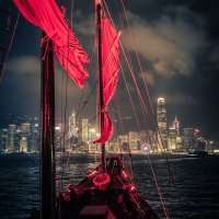 Color 3rd - Cruising on Red Sail by Rohit Kamboj