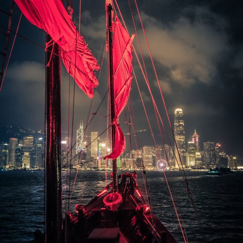Cruising on Red Sail by Rohit Kamboj