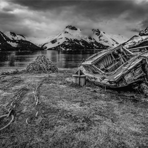 Abandoned Down Under by Mike Shaefer - 1st Place Monochrome