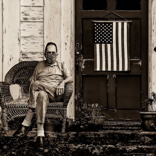 American Patriot by Mike Shaefer - 2nd Place Monochrome