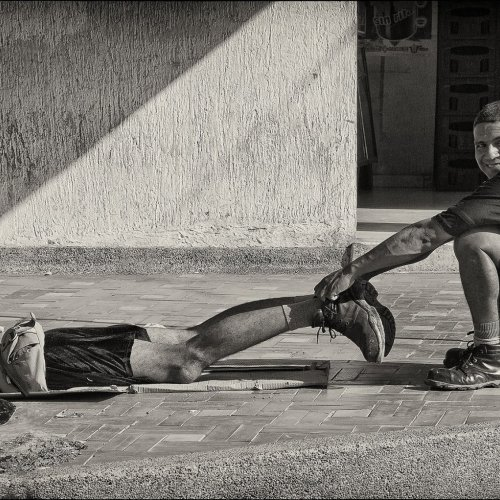 Manhole by Marc McElhaney - 3rd Place Monochrome