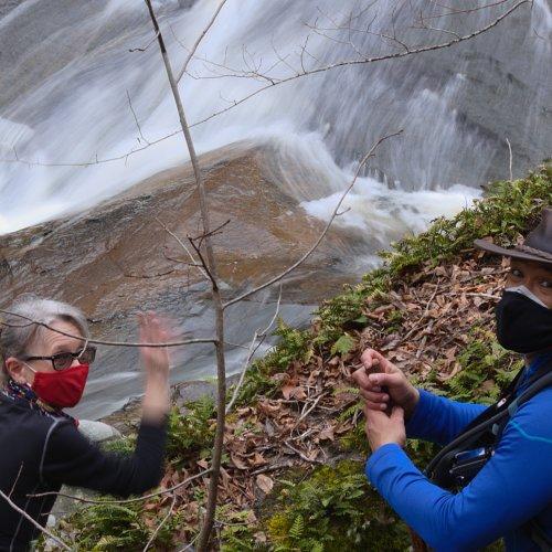 Karen and Janerio at Bear Creek Falls - Jim Harrison