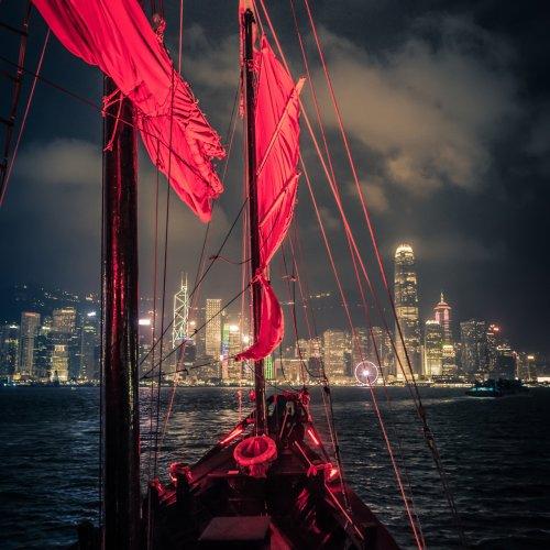 Cruising on Red Sail by Rohit Kamboj