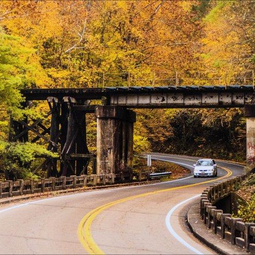 Railroad Bridge and Ess and Vivian Stephens