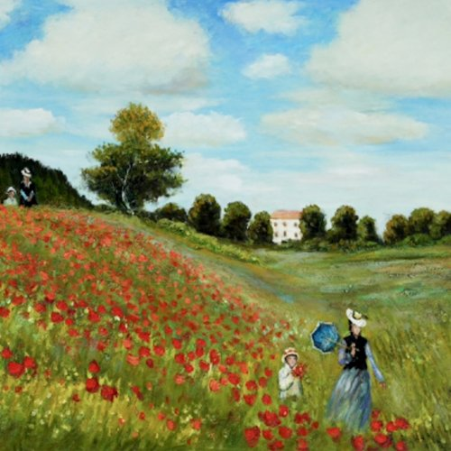 The Poppy Field by Monet