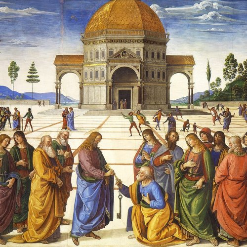 Delivery of the Keys by Perugino