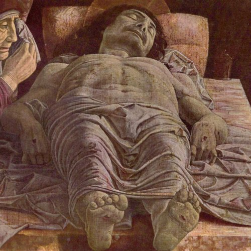 The Lamentation of the Dead Christ by Andrea Mantegna