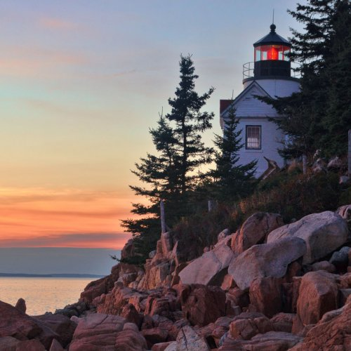 Bass Harbor Headlight by Chris Handley