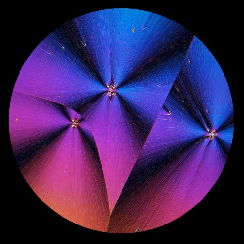 Triptych in the Round - DDT Crystal by Don Stephens