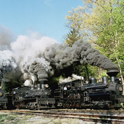 Three Train Race by Don Stephens