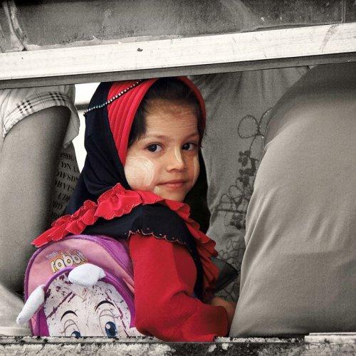 Yangon Bus Girl by Marc McElhaney