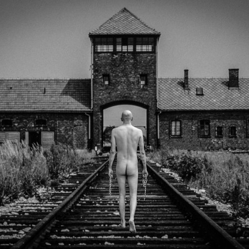 Leaving Auschwitz - Walking to Freedom (composite) by Mike Shaefer