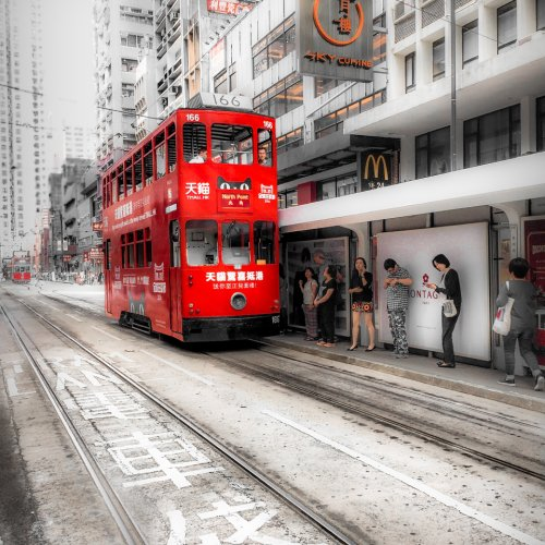 Red Tram by Rohit Kamboj