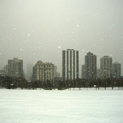 Blizzard, Lincoln Park by Ru Britton