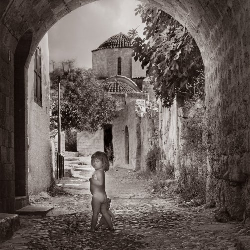 Little Greek Child by Stan Greenberg