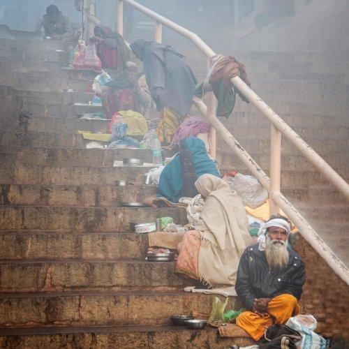 Breakfast in Varanasi by Steve Director