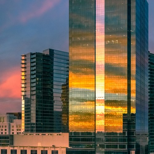 Midtown Sunrise Reflected by Steve Director