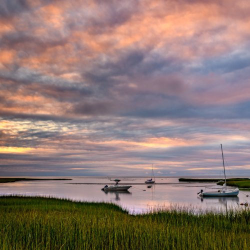 Sunset Over the Bay by Steve Director