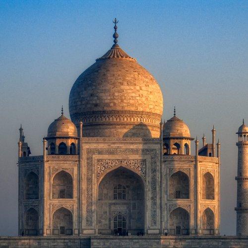 The Taj Mahal in the Morning by Steve Director