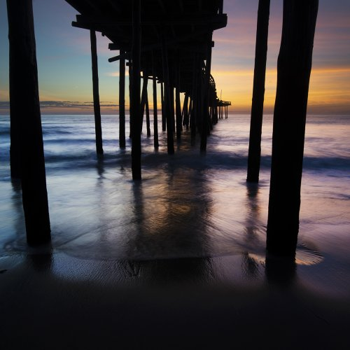 Digital HM - OBX Pier Sunrise by Michael Amos