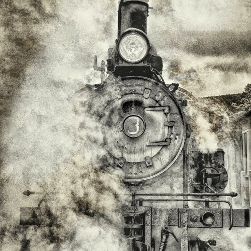 Climax Steam Engine #3 by Jennifer Cardinell
