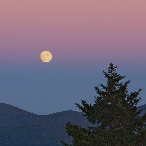 Corn Moon Rising - Shining Rock Wilderness by Jim Harrison