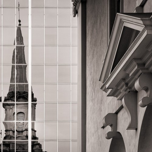 Decatur Church Reflected by Jim Harrison