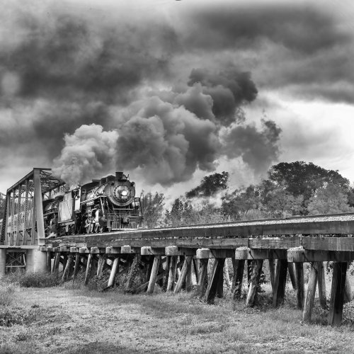 Mono HM - Steam Locomotive Trion Georgia by Michael Amos
