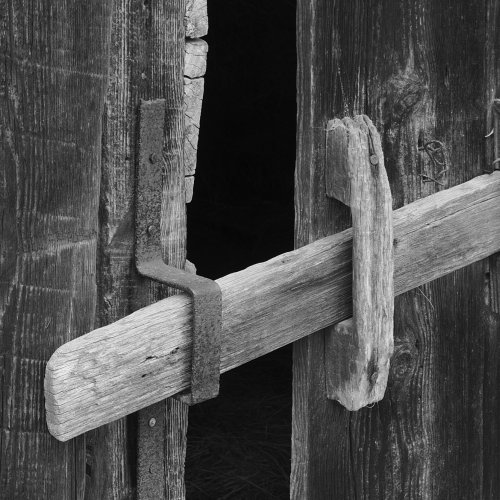 Mono 2nd-Barn Door Latched by Jim Harrison