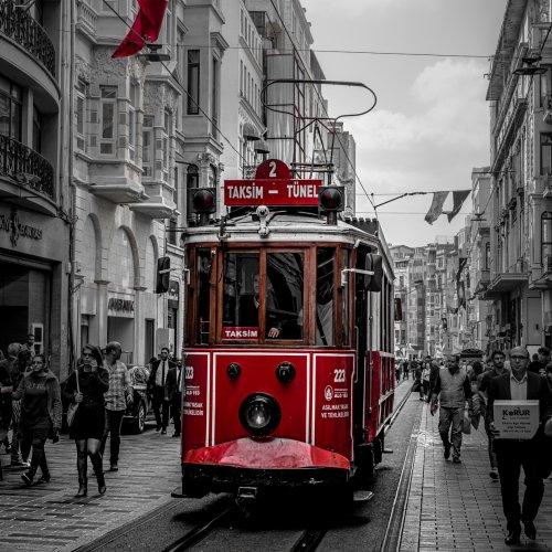 Color 2nd - Taksim-Tünel Tramway by Rohit Kamboj