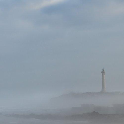 Color HM-El Hank Lightouse on a Foggy Morning, Casablanca by Steve Director