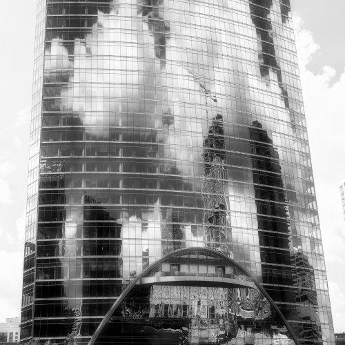 Mono HM_Chicago River Clouds by Vivian Lynch