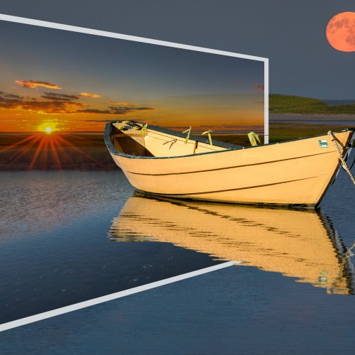 Color 2nd - Sunrise - Moon rise (Composite) by Steve Director
